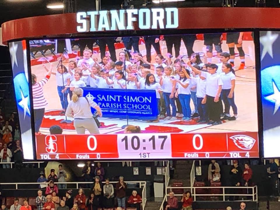 National Anthem at Stanford - Saint Simon School
