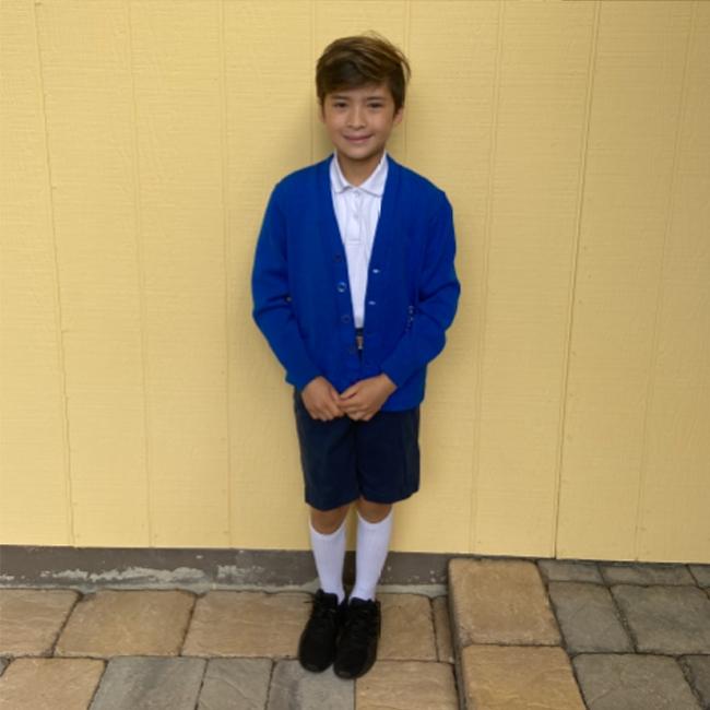 boy uniform shorts